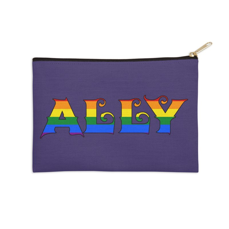 LGBTQ Ally Accessories Zip Pouch by Magickal Vision: The Art of Jolie E. Bonnette