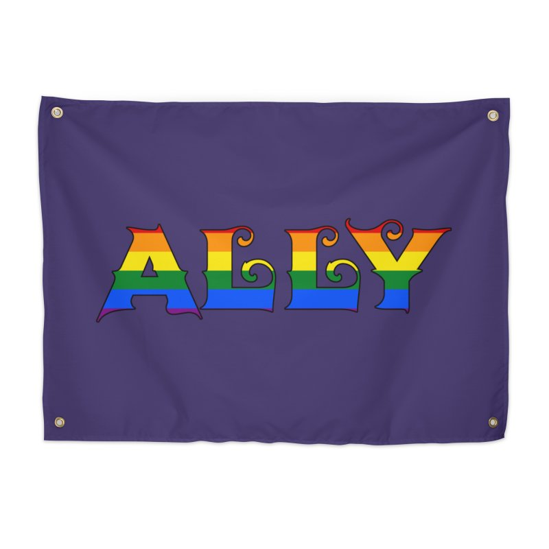 LGBTQ Ally Home Tapestry by Magickal Vision: The Art of Jolie E. Bonnette