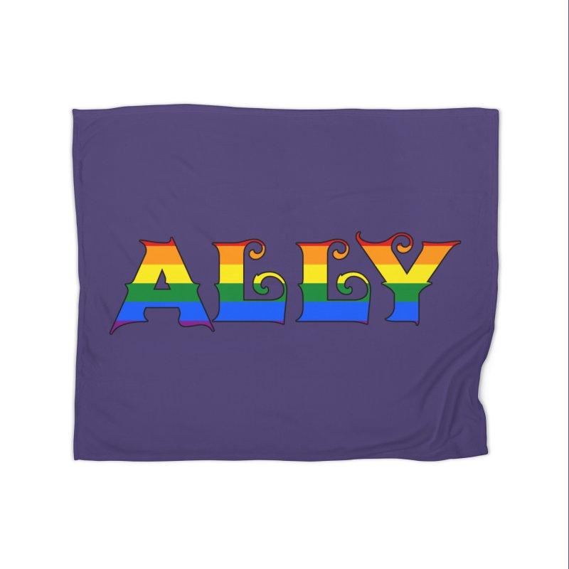 LGBTQ Ally Home Blanket by Magickal Vision: The Art of Jolie E. Bonnette