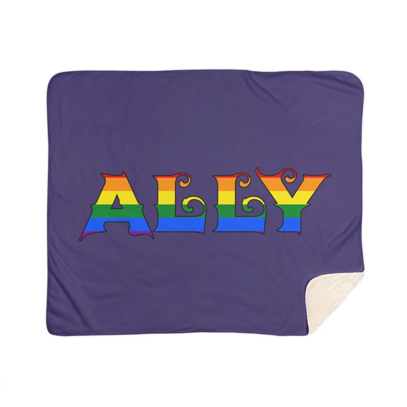 LGBTQ Ally Home Sherpa Blanket Blanket by Magickal Vision: The Art of Jolie E. Bonnette