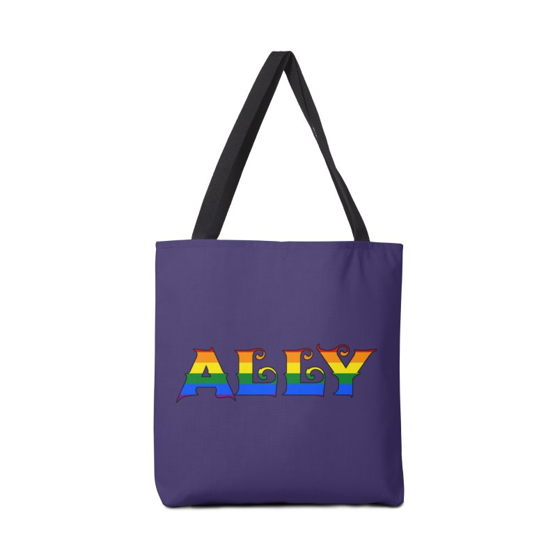 LGBTQ Ally Accessories Tote Bag Bag by Magickal Vision: The Art of Jolie E. Bonnette