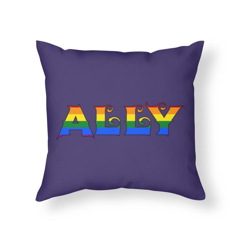 LGBTQ Ally Home Throw Pillow by Magickal Vision: The Art of Jolie E. Bonnette