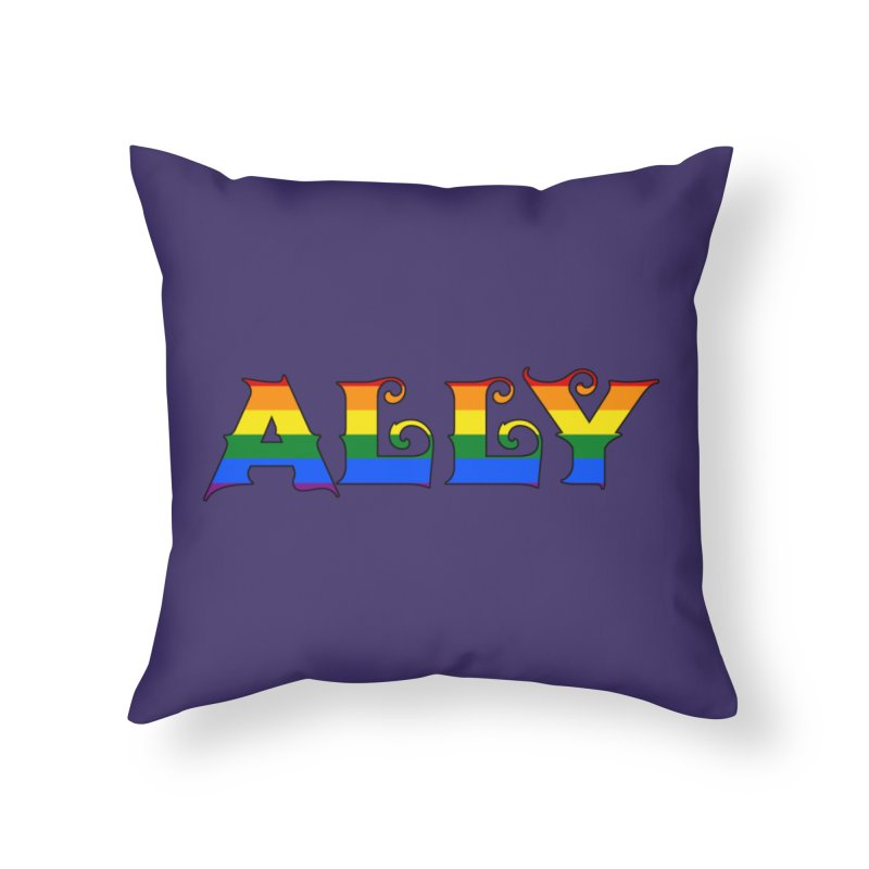 LGBTQ Ally Home Throw Pillow by Magickal Vision: The Art of Jolie E. Bonnette
