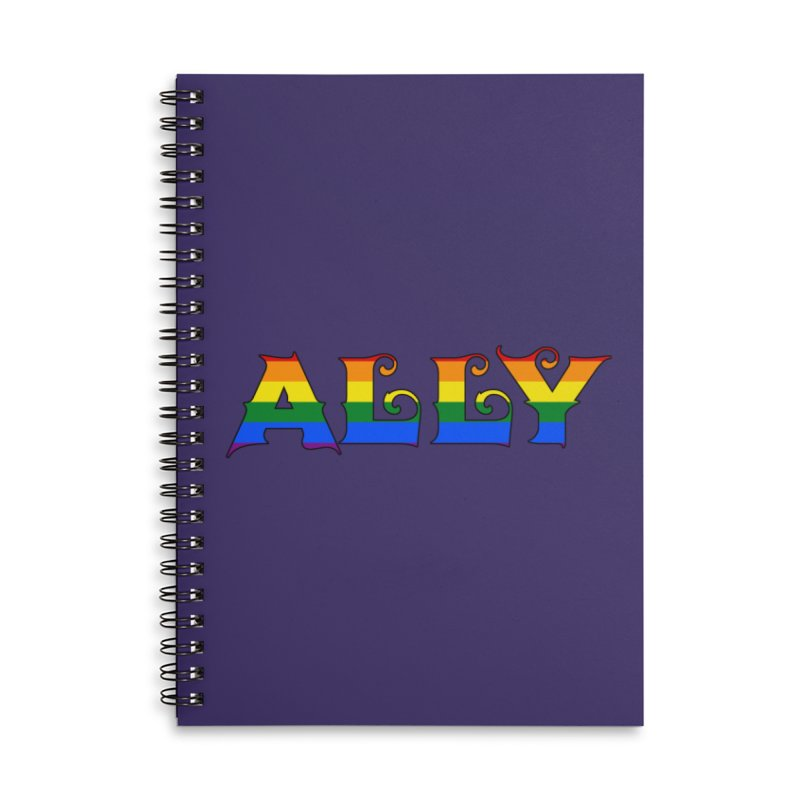 LGBTQ Ally Accessories Lined Spiral Notebook by Magickal Vision: The Art of Jolie E. Bonnette