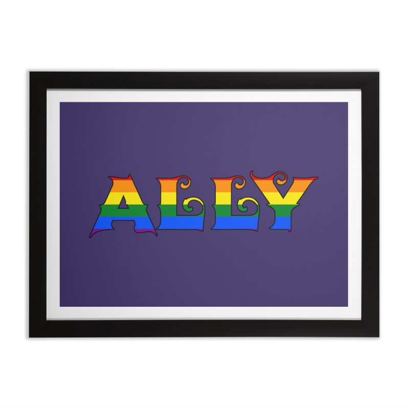 LGBTQ Ally Home Framed Fine Art Print by Magickal Vision: The Art of Jolie E. Bonnette