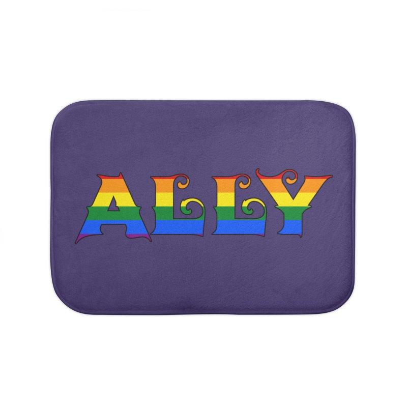 LGBTQ Ally Home Bath Mat by Magickal Vision: The Art of Jolie E. Bonnette