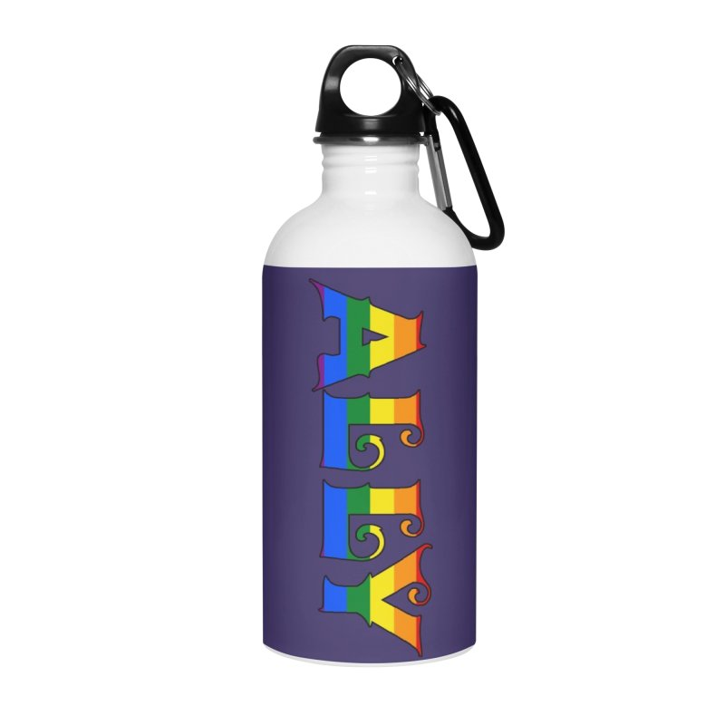 LGBTQ Ally Accessories Water Bottle by Magickal Vision: The Art of Jolie E. Bonnette