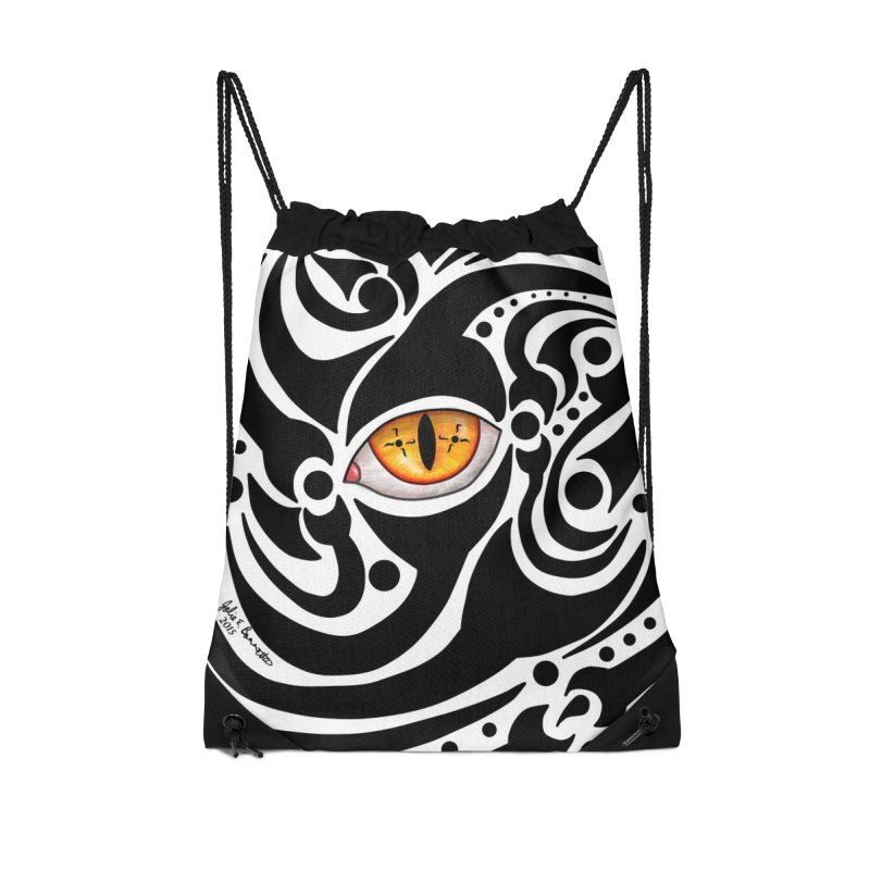 Drakkarhys Accessories Drawstring Bag Bag by Magickal Vision: The Art of Jolie E. Bonnette