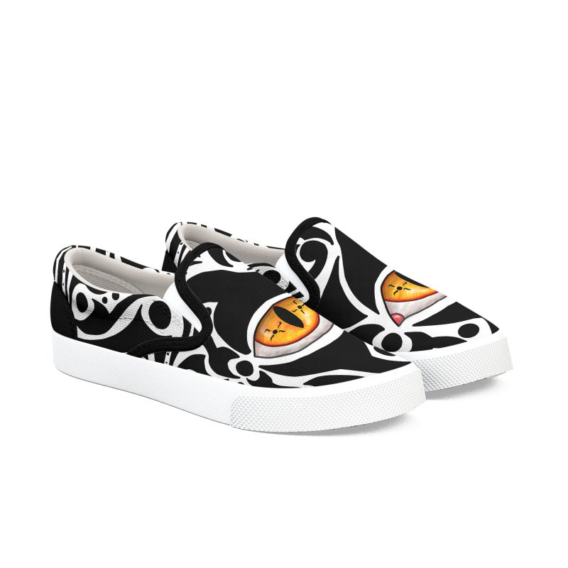 Drakkarhys Women's Slip-On Shoes by Magickal Vision: The Art of Jolie E. Bonnette