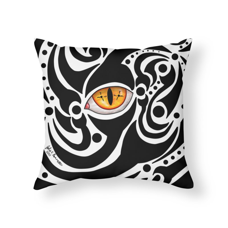 Drakkarhys Home Throw Pillow by Magickal Vision: The Art of Jolie E. Bonnette