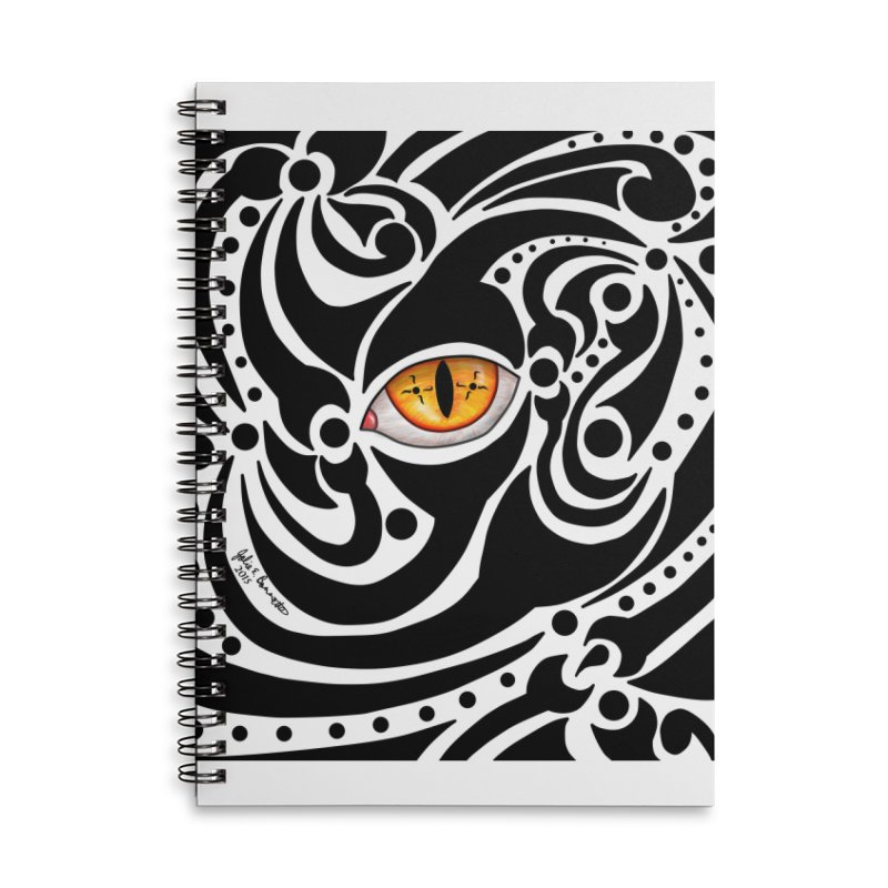 Drakkarhys Accessories Lined Spiral Notebook by Magickal Vision: The Art of Jolie E. Bonnette