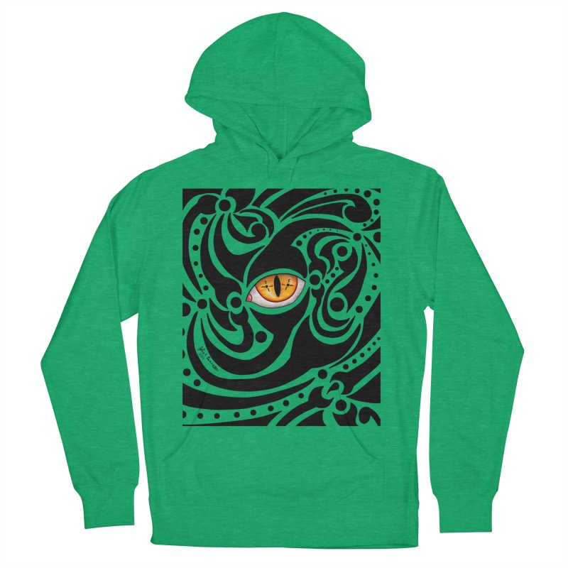 Drakkarhys Men's French Terry Pullover Hoody by Magickal Vision: The Art of Jolie E. Bonnette