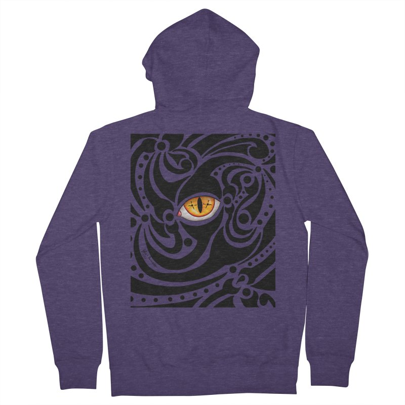 Drakkarhys Men's French Terry Zip-Up Hoody by Magickal Vision: The Art of Jolie E. Bonnette