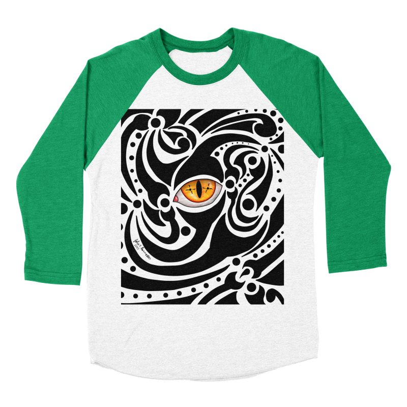 Drakkarhys Men's Baseball Triblend Longsleeve T-Shirt by Magickal Vision: The Art of Jolie E. Bonnette