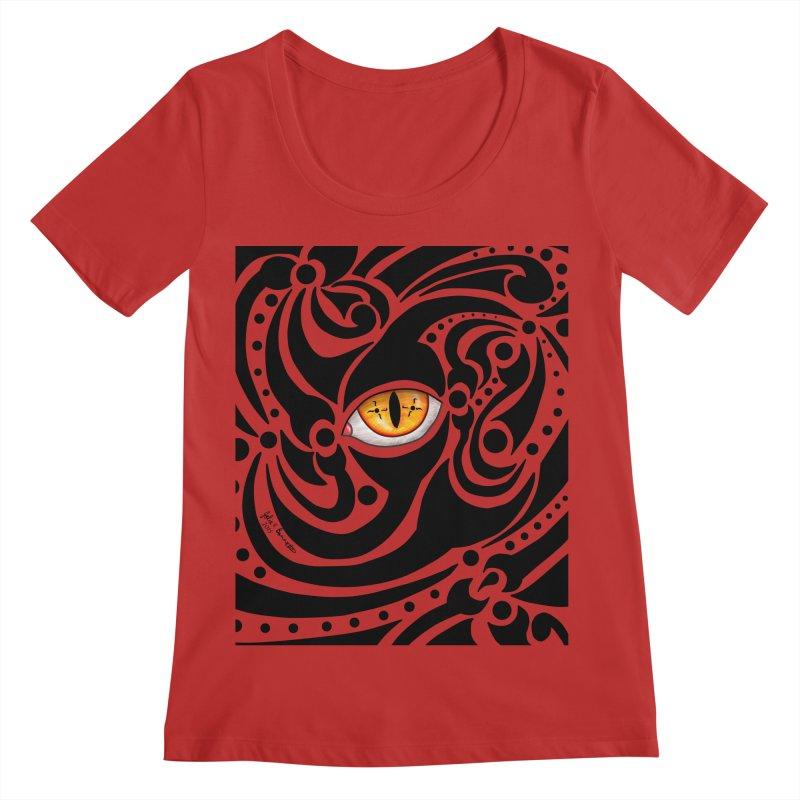 Drakkarhys Women's Regular Scoop Neck by Magickal Vision: The Art of Jolie E. Bonnette
