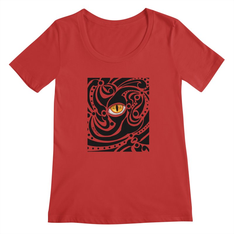 Drakkarhys Women's Regular Scoop Neck by Magickal Vision: The Art of Jolie E. Bonnette