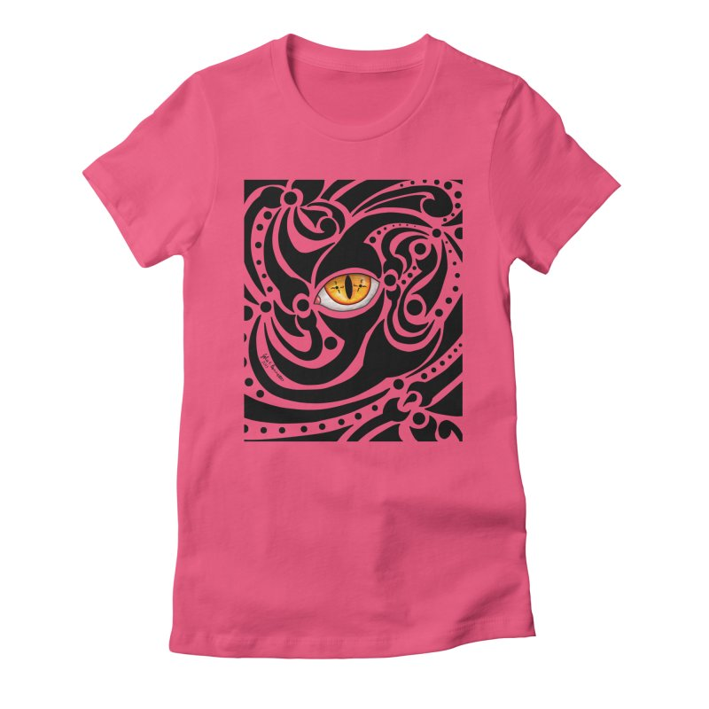 Drakkarhys Women's Fitted T-Shirt by Magickal Vision: The Art of Jolie E. Bonnette