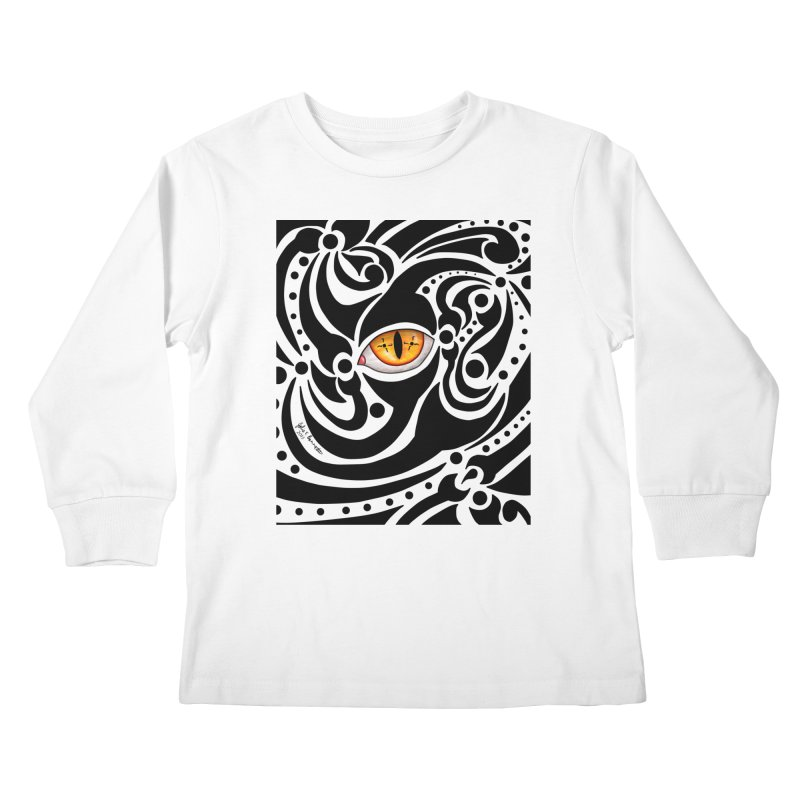 Drakkarhys Kids Longsleeve T-Shirt by Magickal Vision: The Art of Jolie E. Bonnette