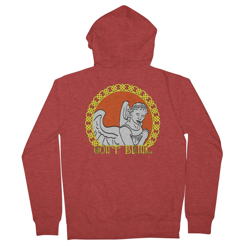 Angel Knot Men's French Terry Zip-Up Hoody by Magickal Vision: The Art of Jolie E. Bonnette