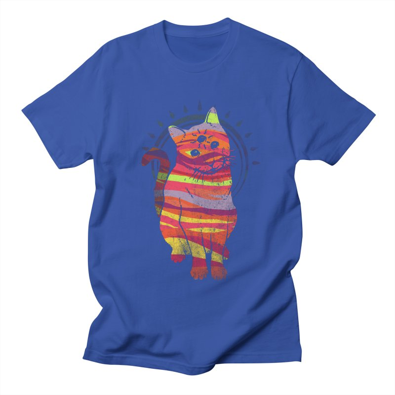 trippy kitty v4 Men's T-Shirt by Jonah Makes Art