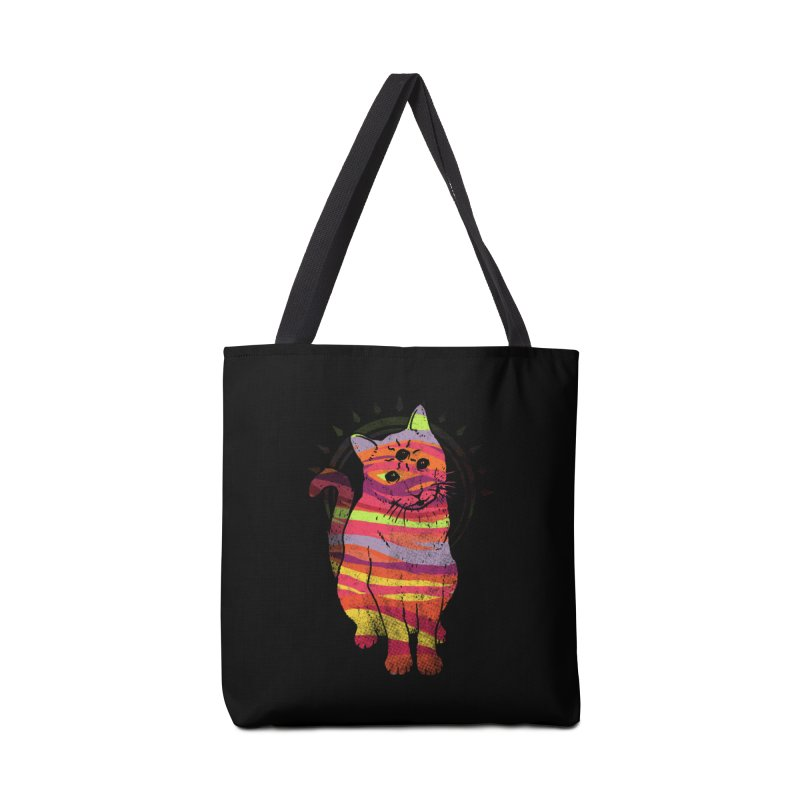 Trippy Kitty V4 Accessories Bag by Jonah Makes Art