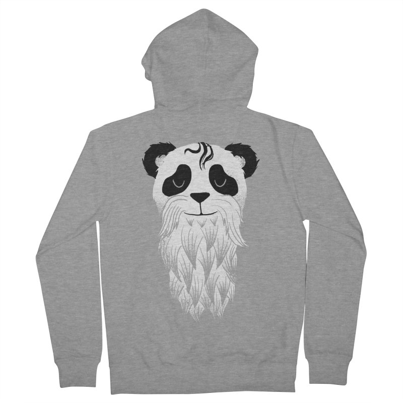 Panda bear-d Men's Zip-Up Hoody by Jonah Makes Art