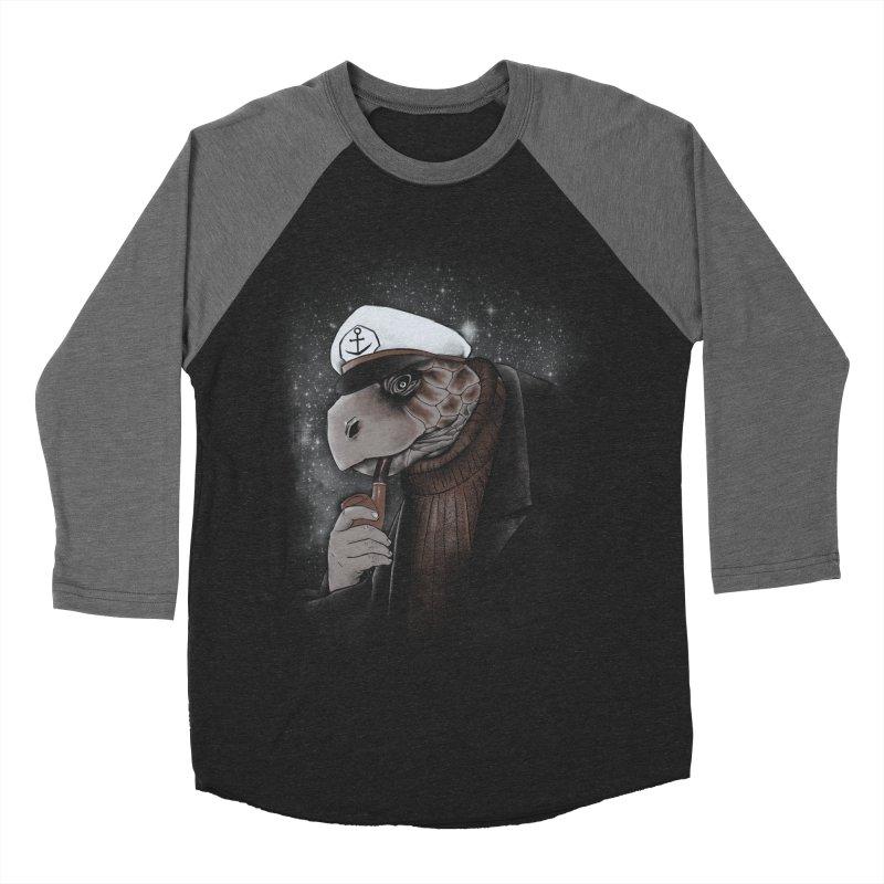 Turtlenecked Turtle Men's Baseball Triblend T-Shirt by Jonah Makes Art