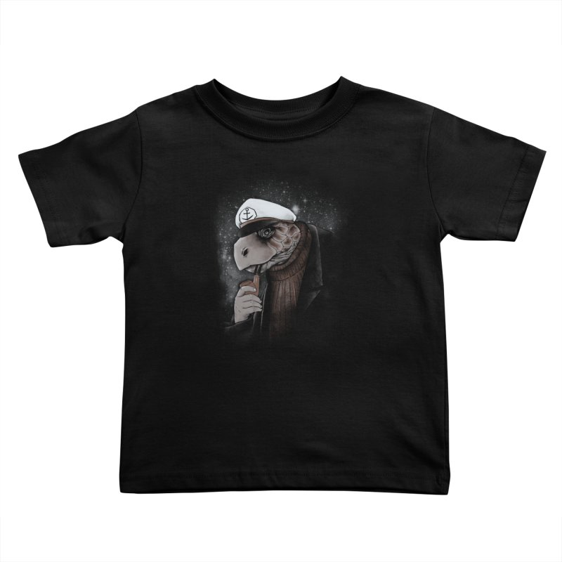 Turtlenecked Turtle Kids Toddler T-Shirt by Jonah Makes Art