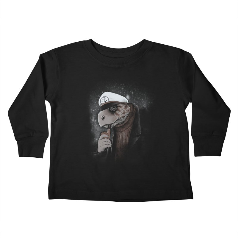 Turtlenecked Turtle Kids Toddler Longsleeve T-Shirt by Jonah Makes Art
