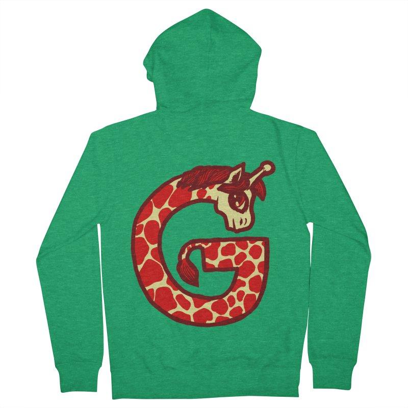 G is for Giraffe Men's Zip-Up Hoody by Jonah Makes Art