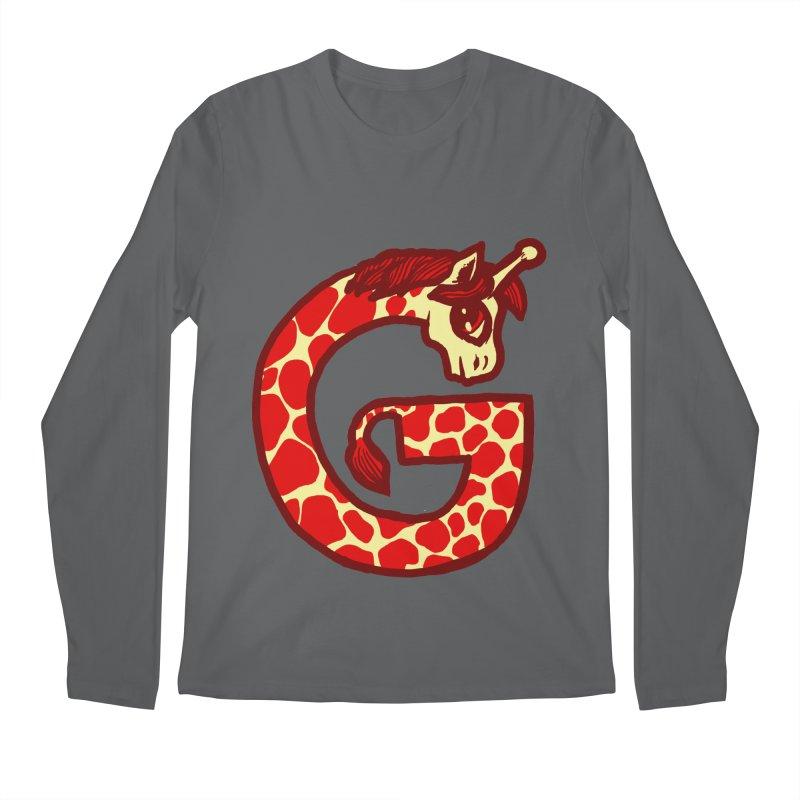G is for Giraffe Men's Longsleeve T-Shirt by Jonah Makes Art