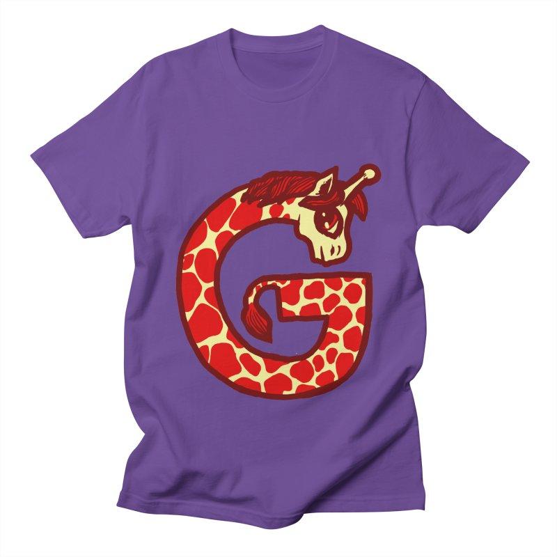 G is for Giraffe Men's T-shirt by Jonah Makes Art