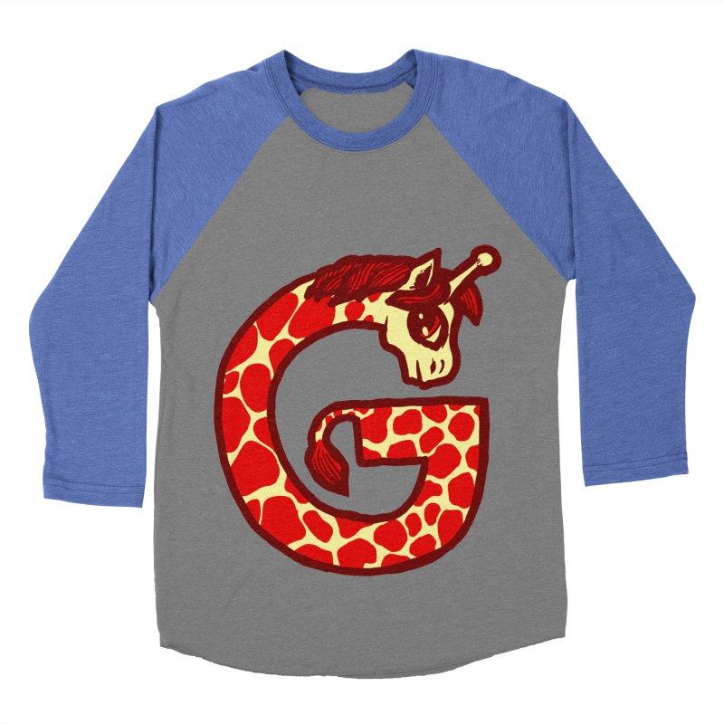 G is for Giraffe Women's Baseball Triblend T-Shirt by Jonah Makes Art