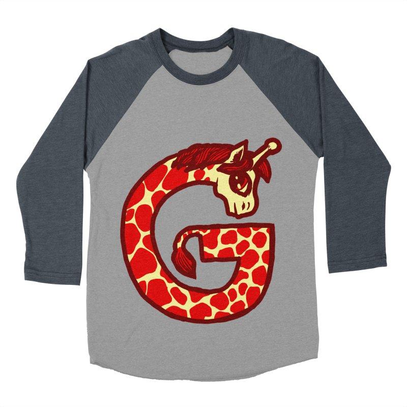 G is for Giraffe Men's Baseball Triblend T-Shirt by Jonah Makes Art