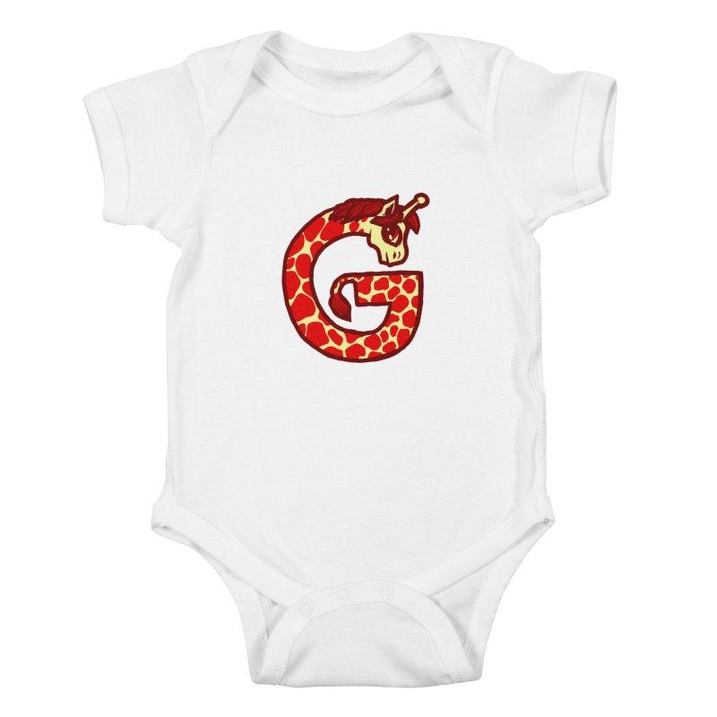 G is for Giraffe Kids Baby Bodysuit by Jonah Makes Art