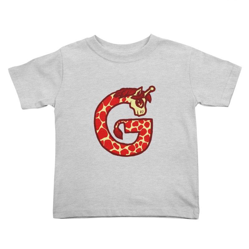 G is for Giraffe Kids Toddler T-Shirt by Jonah Makes Art