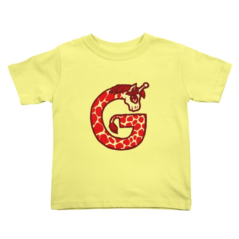G is for Giraffe Kids Toddler T-Shirt by Jonah Makes Art