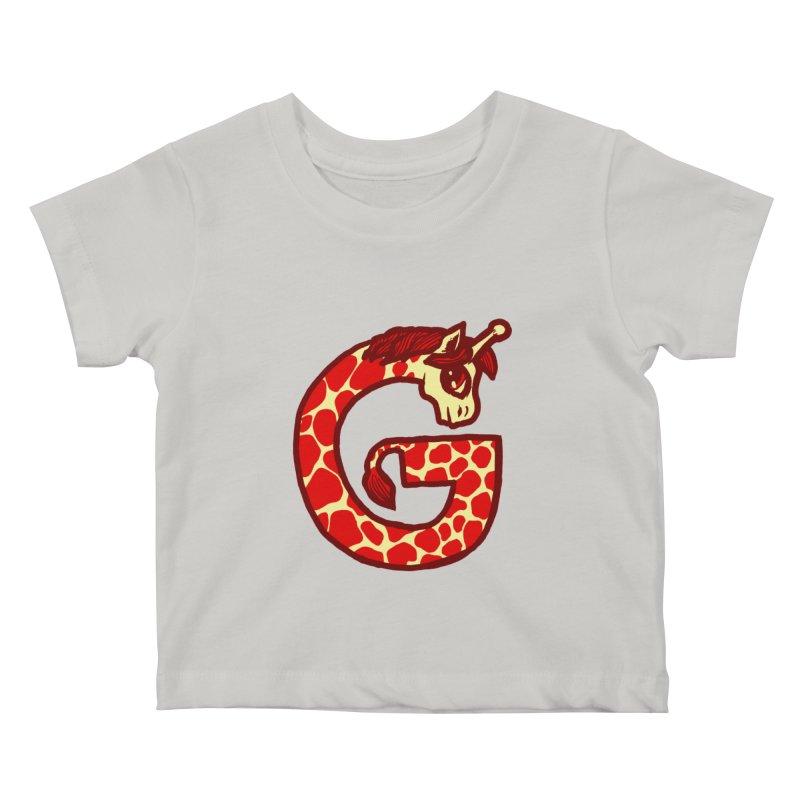 G is for Giraffe Kids Baby T-Shirt by Jonah Makes Art