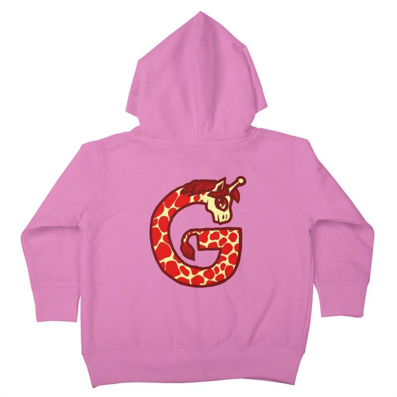 G is for Giraffe Kids Toddler Zip-Up Hoody by Jonah Makes Art