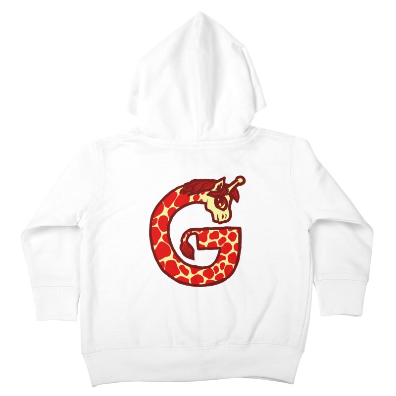 G is for Giraffe Kids Toddler Zip-Up Hoody by Jonah Makes Art