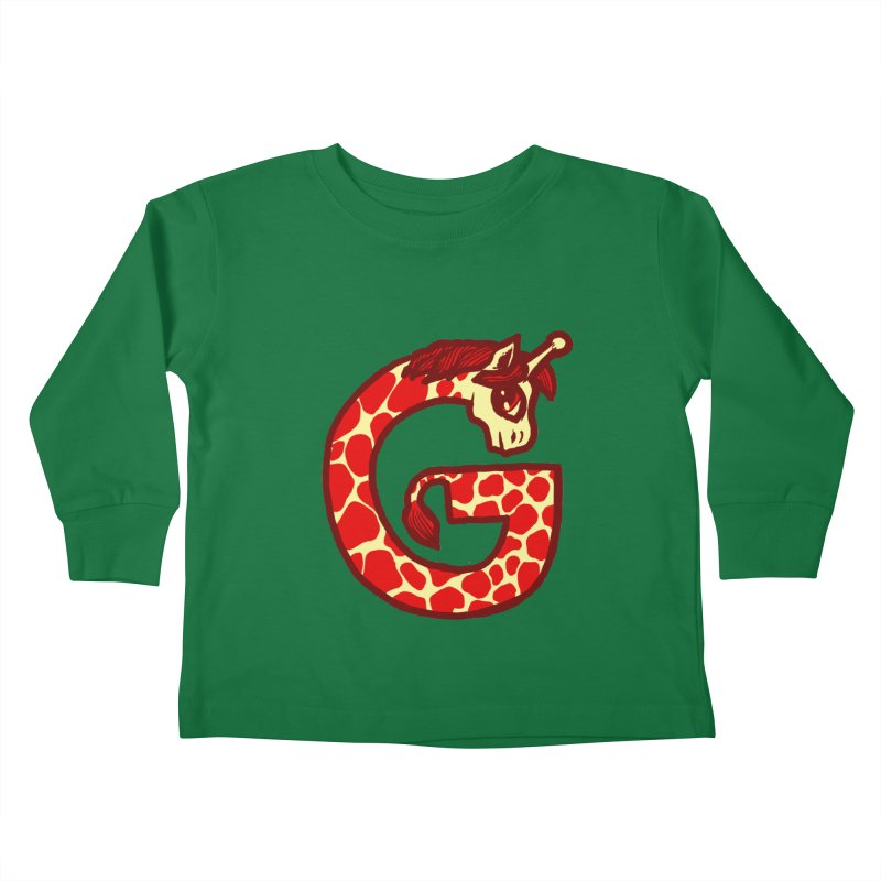 G is for Giraffe Kids Toddler Longsleeve T-Shirt by Jonah Makes Art