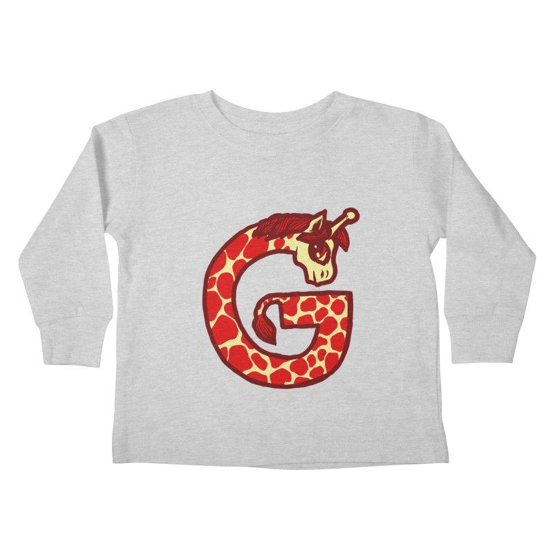 G is for Giraffe Kids Toddler Longsleeve T-Shirt by Jonah Makes Art