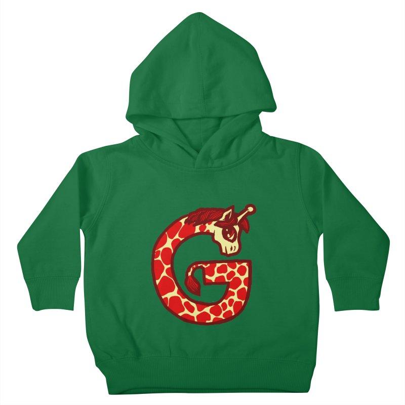 G is for Giraffe Kids Toddler Pullover Hoody by Jonah Makes Art