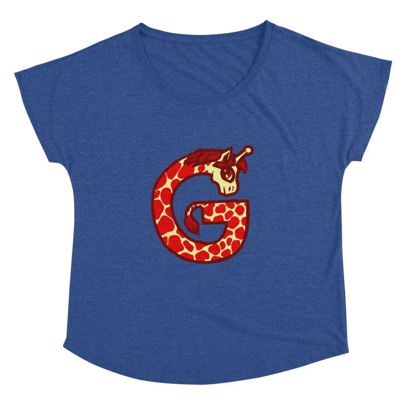 G is for Giraffe Women's Dolman by Jonah Makes Art