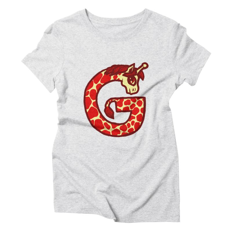 G is for Giraffe Women's Triblend T-shirt by Jonah Makes Art