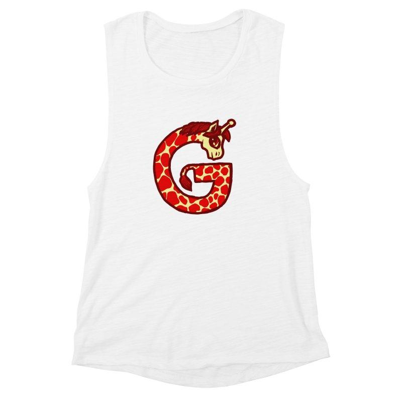 G is for Giraffe Women's Muscle Tank by Jonah Makes Art
