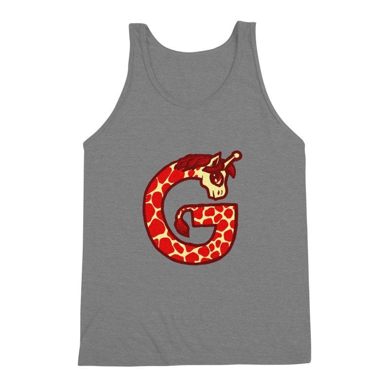 G is for Giraffe Men's Triblend Tank by Jonah Makes Art