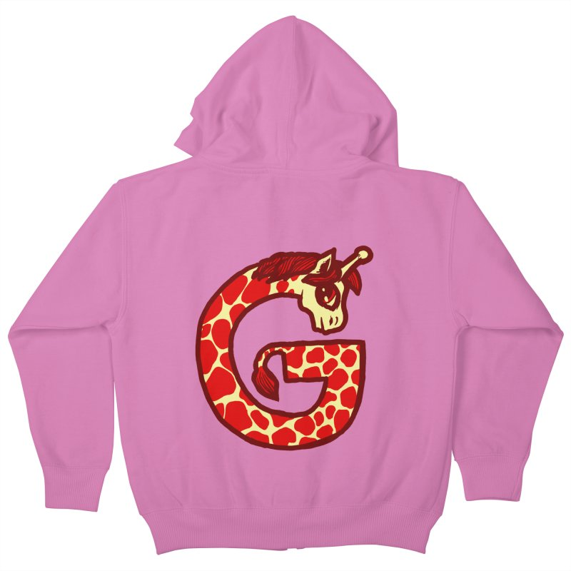 G is for Giraffe Kids Zip-Up Hoody by Jonah Makes Art