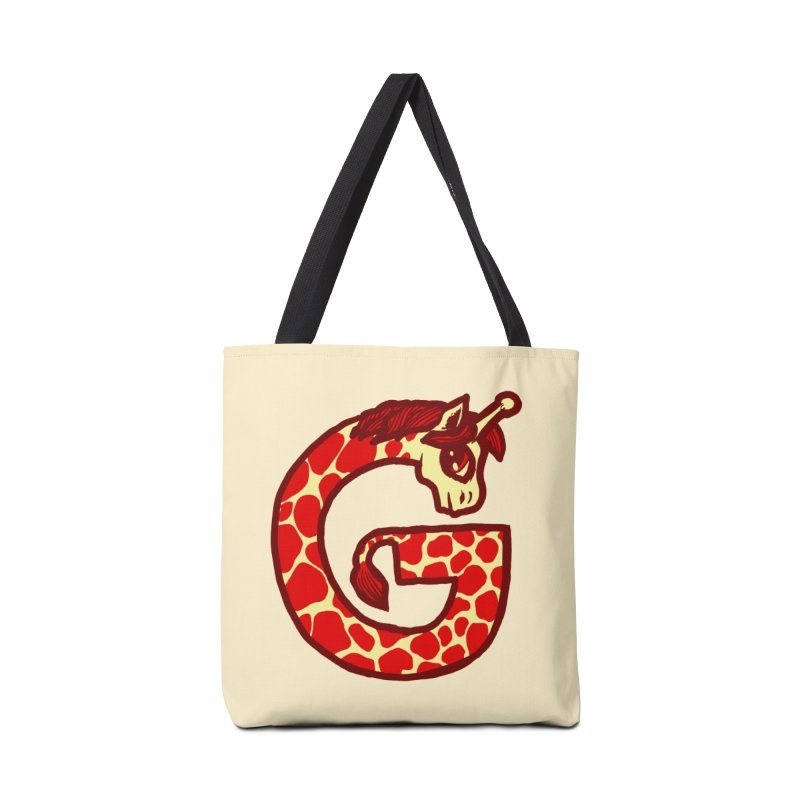 G is for Giraffe Accessories Bag by Jonah Makes Art