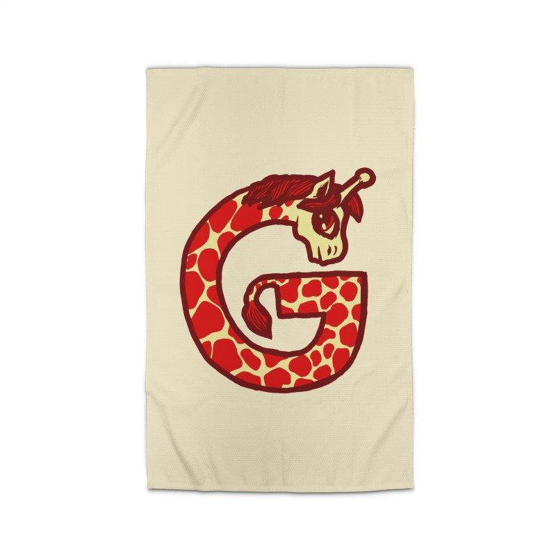 G is for Giraffe Home Rug by Jonah Makes Art